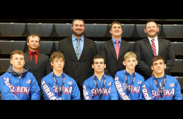 Eureka Tornado Wrestling Team Placed 3rd At 3-2-1A State